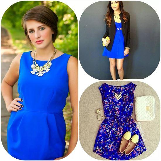 жемчуг с синим платьем фото веками
