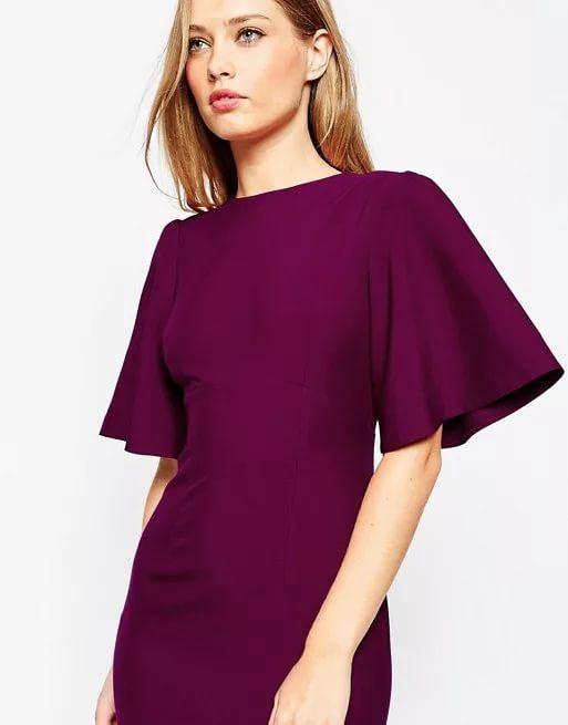 Платье с рукавом фасон картинки