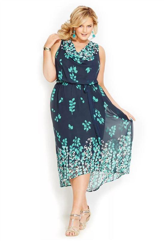 фото шифоновых платьев для полных на лето самом деле