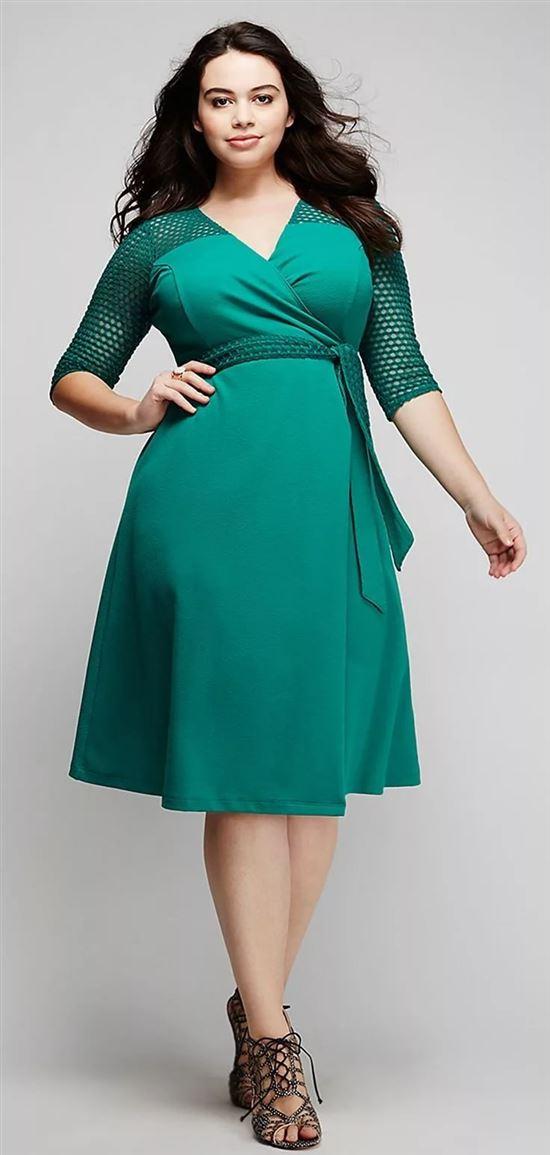 Короткое платье для фигуры яблоко фото гибридной