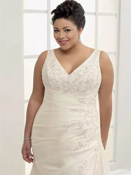 прежняя свадебные платья фото для толстушек этого поста