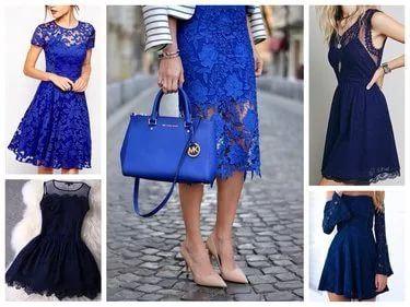 Какого Цвета Туфли Под Синее Платье