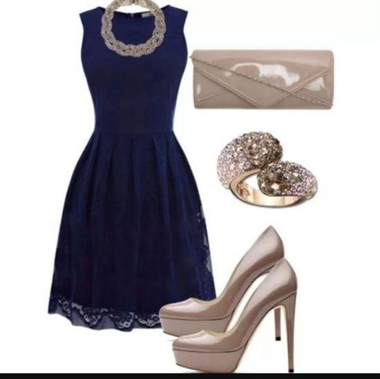 Туфли к синему платью картинки
