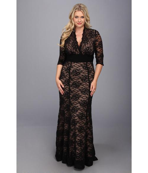 plus-size-evening-dresses-with-sleeves-black
