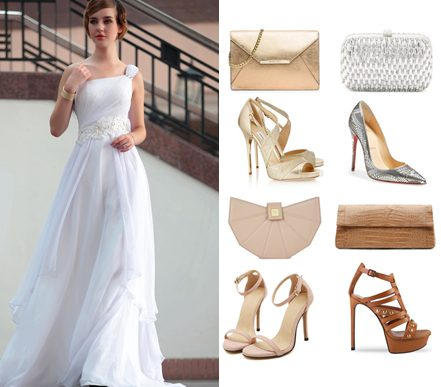 wearing-white-evening-dress-with-understated-color-accessories